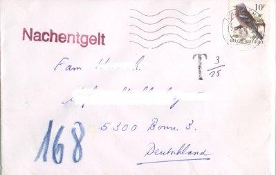 Vögel (seit 1985), Michel Nr. 2404 auf Brief