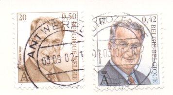 König Albert II (seit 1999), Michel Nr. 3014 + 3030