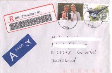 Vögel (seit 1985)n Michel Nr. 3038 auf Brief