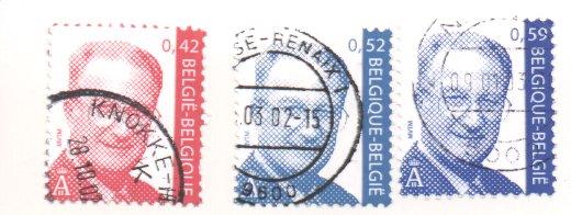 König Albert II (seit 1999), Michel Nr. 3100 + 3101