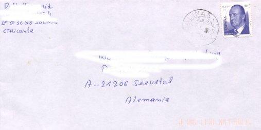 König Juan Carlos I. (seit 2001), Michel Nr. 3640 auf Brief