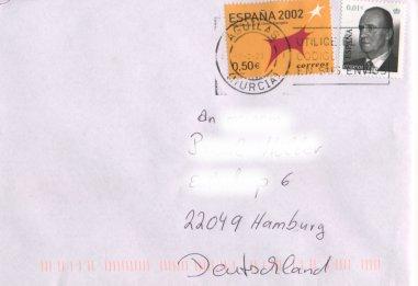 König Juan Carlos I. (seit 2001), Michel Nr. 3704 auf Brief