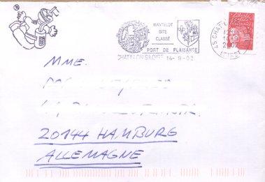 Marianne (seit 1997), Michel Nr. 3228 auf Brief