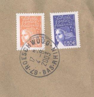 Marianne (seit 1997), Michel Nr. 3583 + 3585