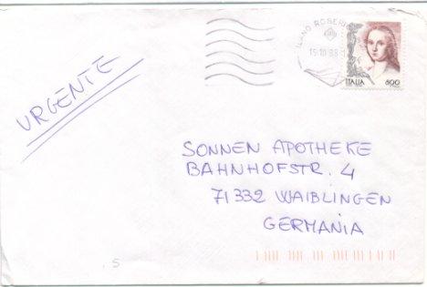 Die Frau in der Kunst (seit 1998), Michel Nr. 2582 auf Brief