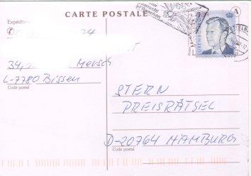 Großherzog Henri (seit 2001), Michel Nr. 1539 auf Brief
