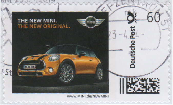 "Abbildung 38a: Marke ""THE NEW MINI"" mit individueller URL, 2014"