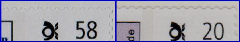 Abbildung 51: Zähnungsunterschiede: Bogen (links) - Rolle (rechts)