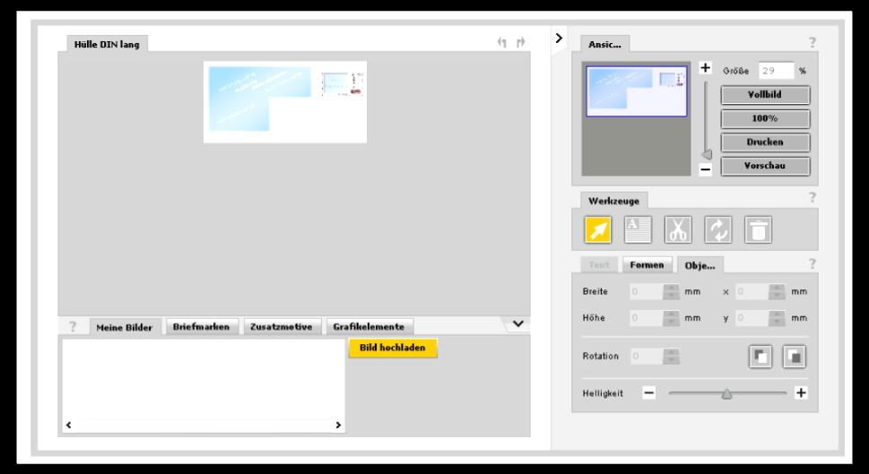 Abbildung 3: Gestaltungsbereich Plusbrief Individuell (Stand 2/2013)