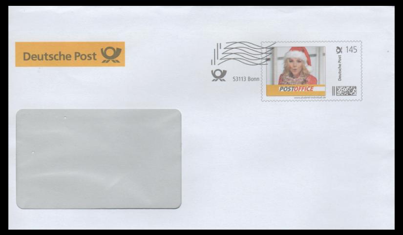Abbildung 14: Plusbrief Deutsche Post (Ausschnitt), Portostufe 145 ct, Frankierwelle Bonn