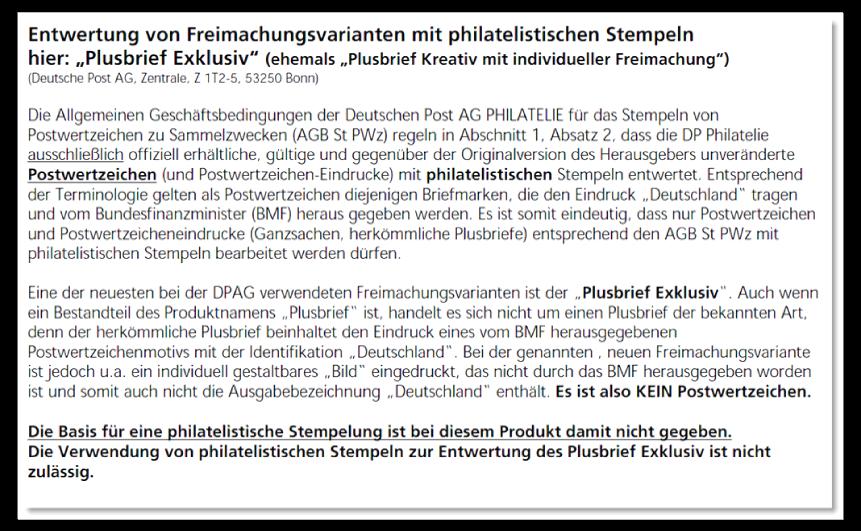 """Abbildung 21: """"Philatelie Aktuell"""" 01-2008 (17. Jan. 2008) Freimachen von Plusbrief Exklusiv mit philatelistischen Stempeln"""