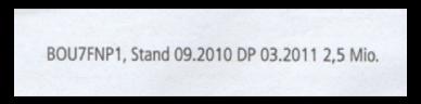 Abbildung 27: Vergrößerung Druckvermerk aus der vorherigen Abb.
