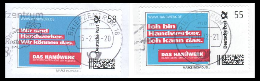 """Abbildung 52: Zähnungsunterschiede: weit (links) - eng (rechts), Ausgaben """"Das Handwerk"""""""