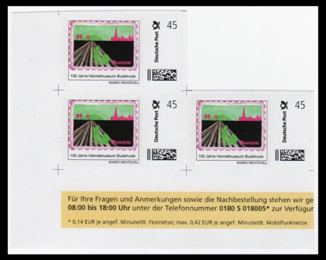 """Abbildung 54: Bogenteil mit Schnittmarkierungen, """"100 Jahre Heimatmuseum Buxtehude"""", 2. Auflage 2013"""