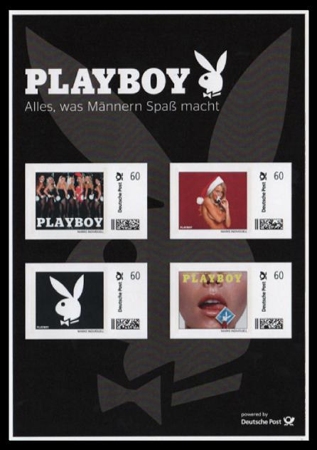 Abbildung 58: Markenbogen mit 4 Marken aus der Promotion mit dem Playboy, 2013