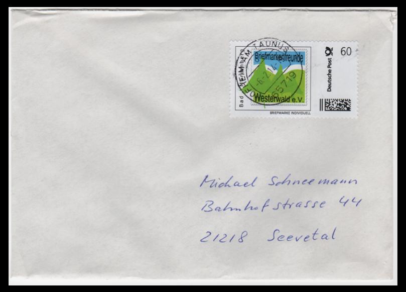 Abbildung 64: Bogenmarke Briefmarkenfreunde Westerwald e.V. 60 ct, 2014