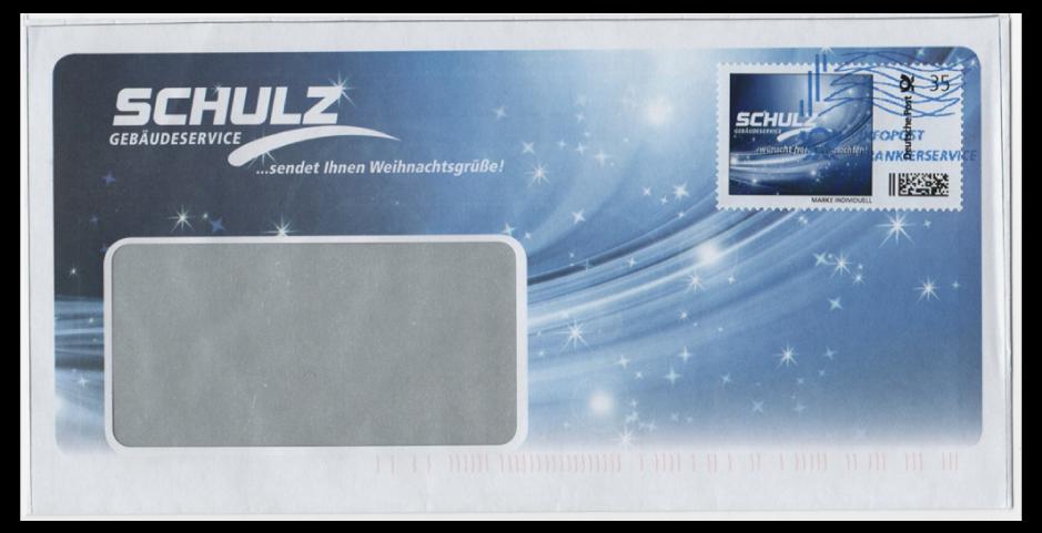 Abbildung 68: Infopost Frankierservice 35 ct der Fa. Schulz, Gebäudetechnik