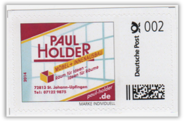 Abbildung 70: 2 ct der Fa. Paul Holder, 2014 (3 Ziffern !!)