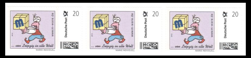 Abbildung 30: Rollenmarkenstreifen Fa. M-Ware aus Leipzig
