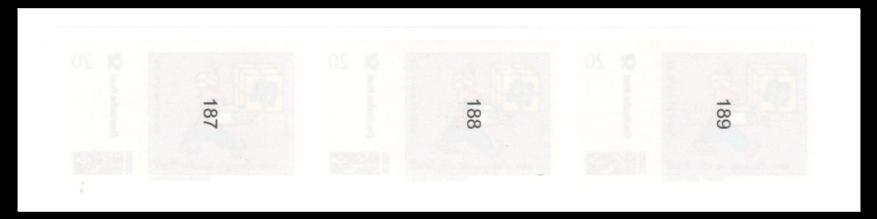 Abbildung 31: Rückseitige Nummerierung (Fa. M-Ware aus Leipzig)