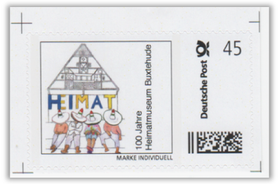 Abbildung 32: Bogenmarke 100 Jahre Heimatmuseum Buxtehude, 2013