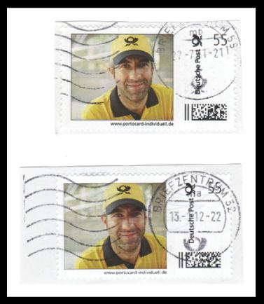 Abbildung 43: Portocard der DPAG, Briefträger