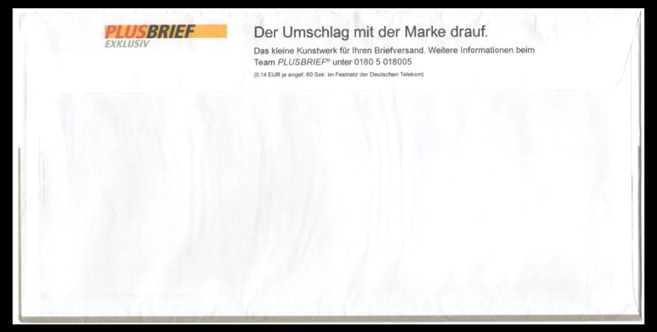Abbildung 1: Rückseite vom Plusbrief Documenta Kassel 2007, Vorderseite s. Abb. 15