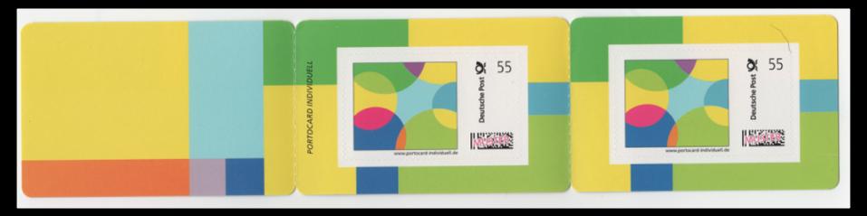 Abbildung 1: Muster einer Portocard Individuell mit zwei Marken