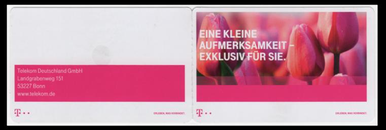Abbildung 85: Portocard der Deutschen Telekom, Aussenansicht