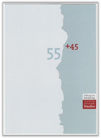 Abbildung 96: Aussenseite der Staufen-Portocard. Sie wird in der Mitte (im Riss) aufgeklappt, 2012