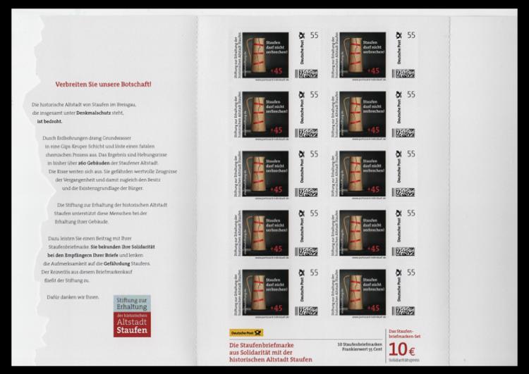 Abbildung 97: Innenseite der Staufen-Portocard, 2012
