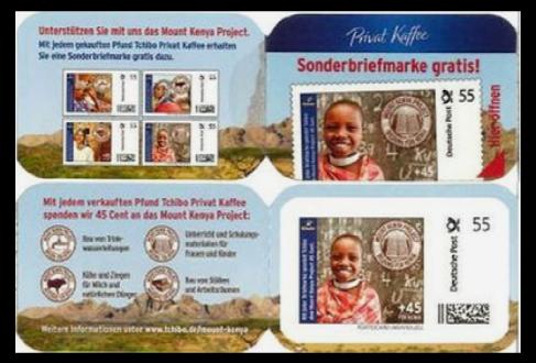 Abbildung 102: Kleine Portocard der Fa. Tchibo, Motiv: Bildung für Kenia, 2011