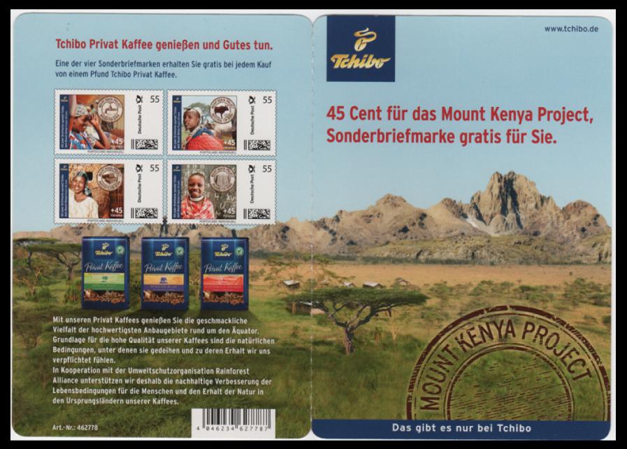 Abbildung 104: Große Portocard der Fa. Tchibo, Motiv: Bildung für Kenia, Aussenseite, 2011